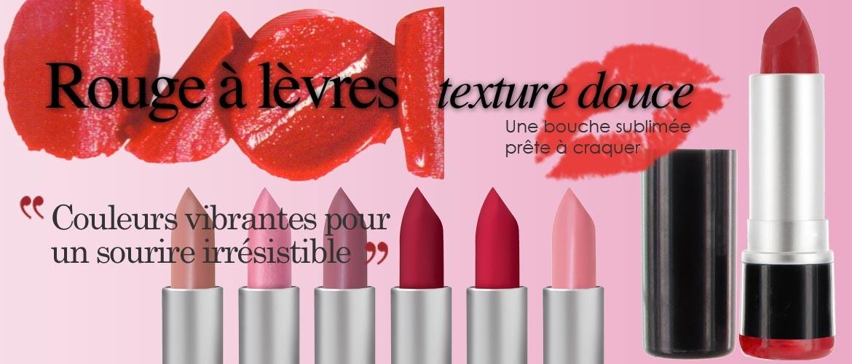 Rouge à lèvres texture douce