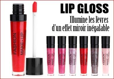 Brillant a lèvres lip-gloss illumine les lèvres